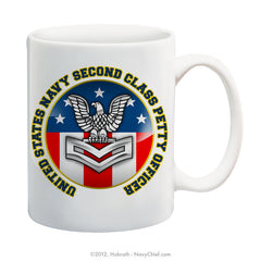 """United States Navy Second Class Petty Officer"" 15 oz Coffee Mug"