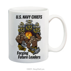 """Future Leaders"" - 15 oz Coffee Mug - NavyChief.com - Navy Pride, Chief Pride."