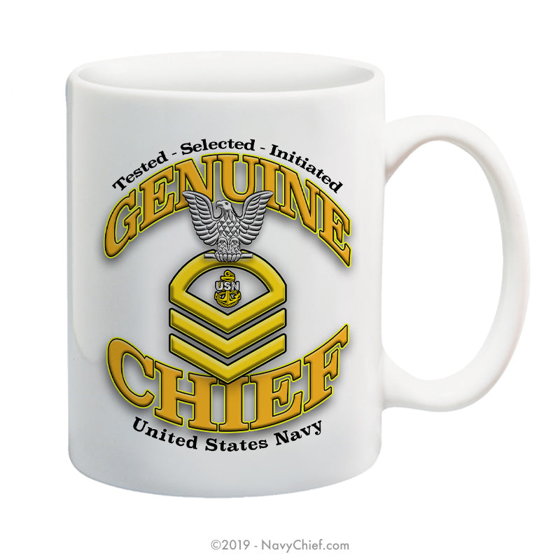 """Genuine Chief"" - 15 oz Coffee Mug - NavyChief.com - Navy Pride, Chief Pride."