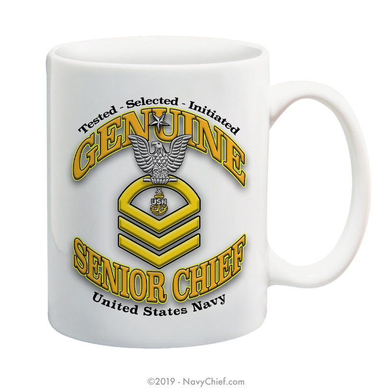 """Genuine Senior Chief"" - 15 oz Coffee Mug - NavyChief.com - Navy Pride, Chief Pride."
