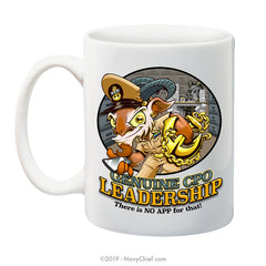 """Genuine CPO Leadership"" Goat - 15 oz Coffee Mug - NavyChief.com - Navy Pride, Chief Pride."