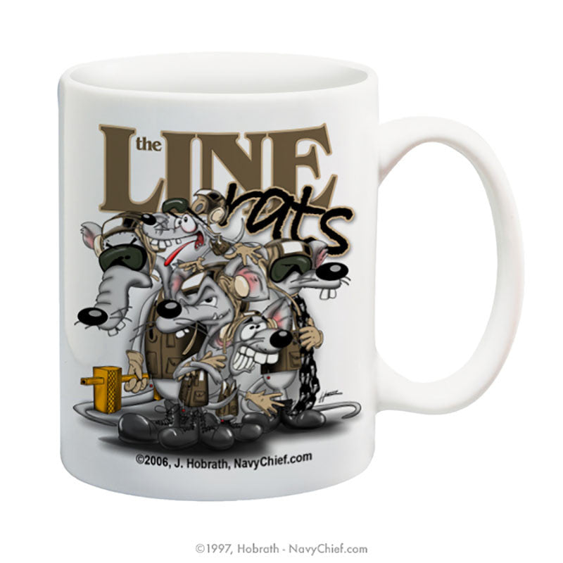 """Line Rats"" 15 oz Coffee Mug - NavyChief.com - Navy Pride, Chief Pride."