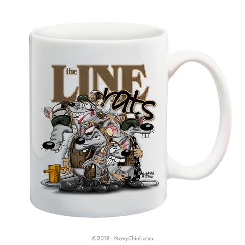 """Line Rats"" - 15 oz Coffee Mug - NavyChief.com - Navy Pride, Chief Pride."