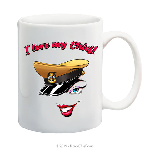 """Love My Chief"" - 15 oz Coffee Mug - NavyChief.com - Navy Pride, Chief Pride."