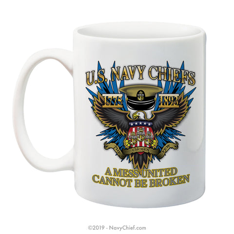 """A Mess United"" - 15 oz Coffee Mug - NavyChief.com - Navy Pride, Chief Pride."