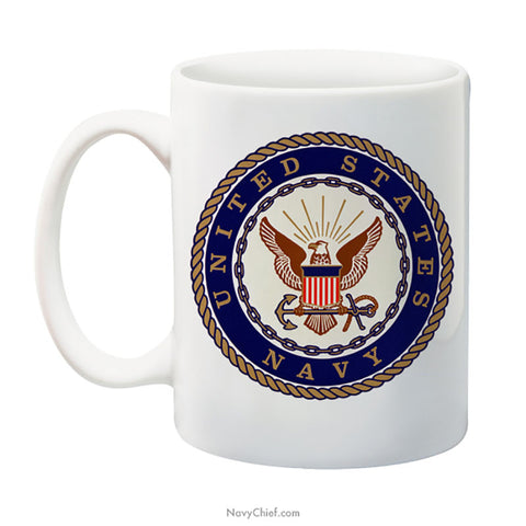 """Navy Emblem"" 15 oz Coffee Mug"