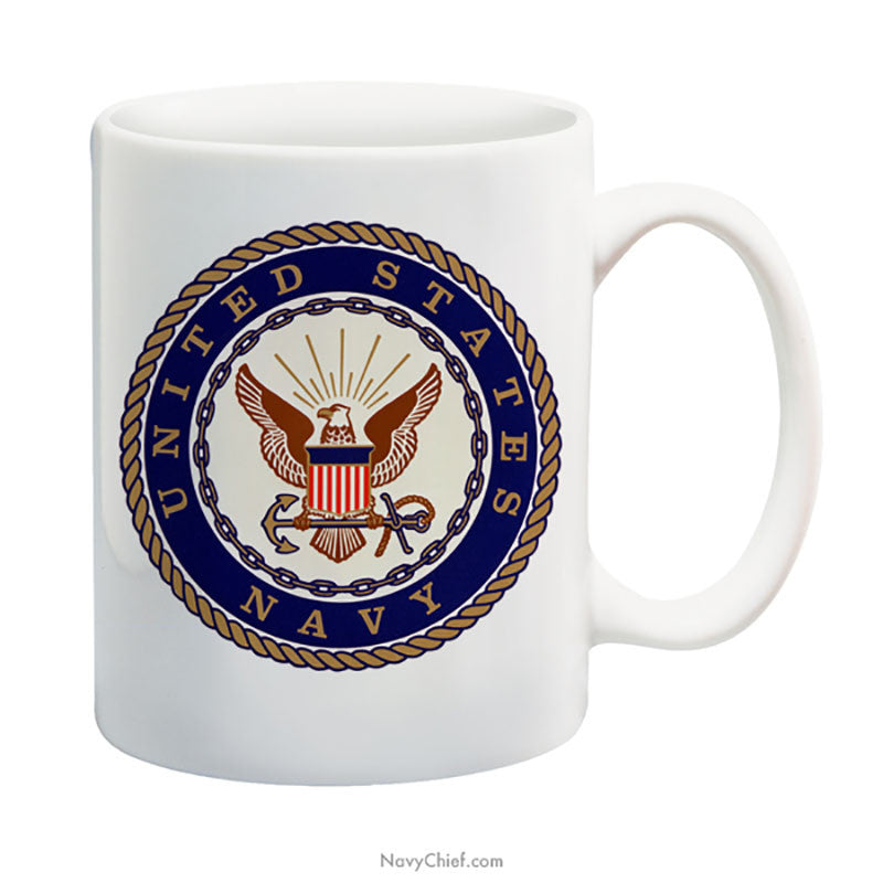 """Navy Emblem"" 15 oz Coffee Mug - NavyChief.com - Navy Pride, Chief Pride."