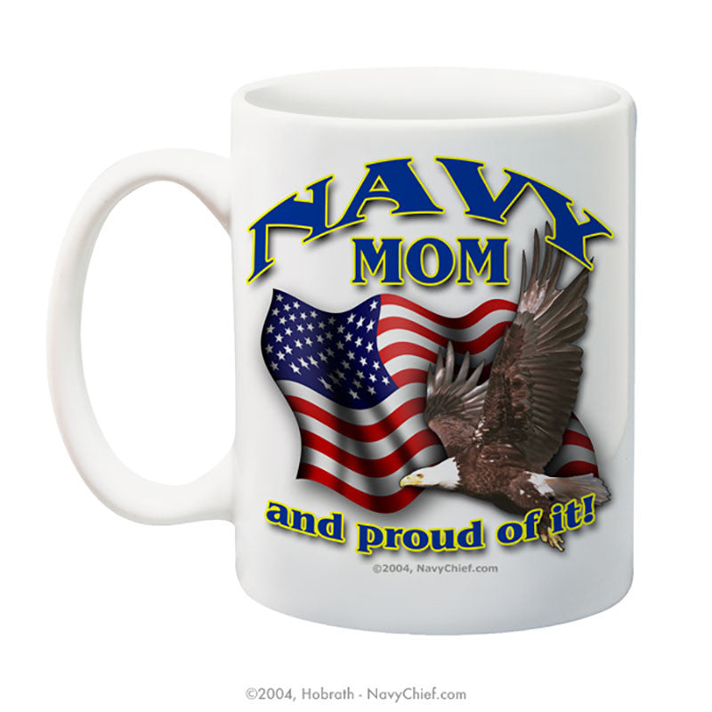 """Navy Mom"" 15 oz Coffee Mug - NavyChief.com - Navy Pride, Chief Pride."