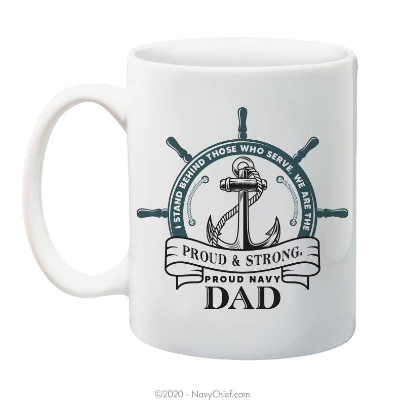 """Navy Dad"" - 15 oz Coffee Mug - NavyChief.com - Navy Pride, Chief Pride."