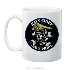"""Navy Chief, Navy Pride"" - 15 oz Coffee Mug - NavyChief.com - Navy Pride, Chief Pride."