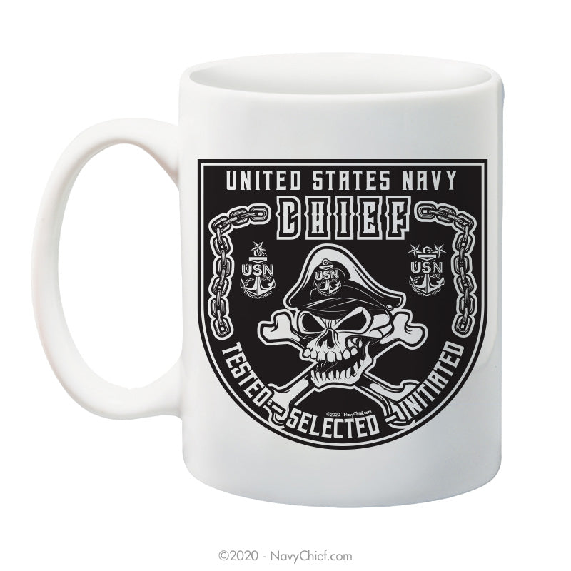 """Original CPO1 Skull"" - 15 oz Coffee Mug - NavyChief.com - Navy Pride, Chief Pride."
