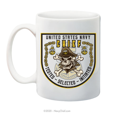 Original CPO2 Skull - 15 oz Coffee Mug - NavyChief.com - Navy Pride, Chief Pride.