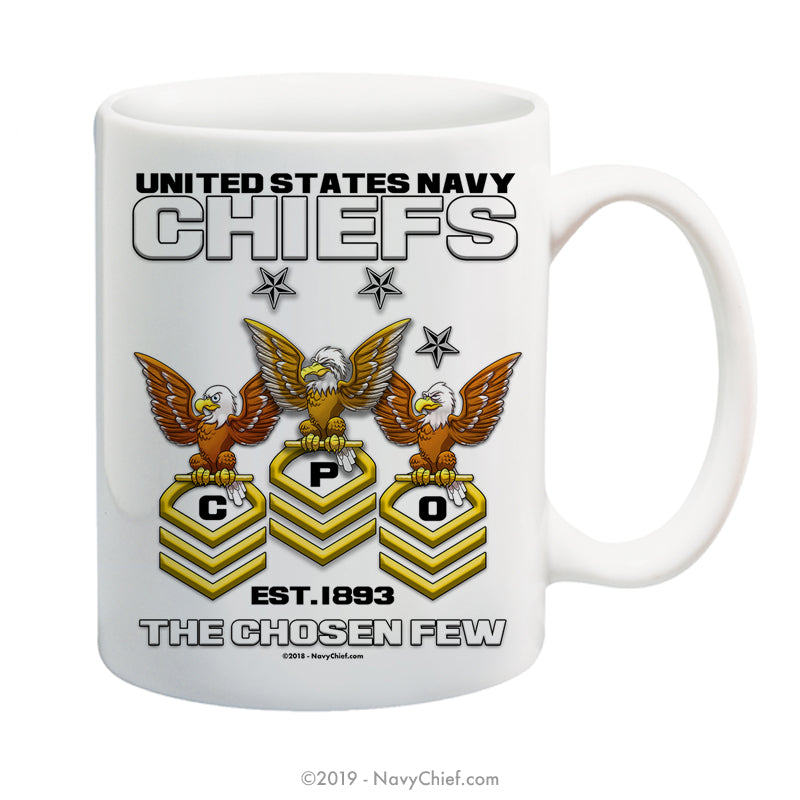 """Old Crows"" - 15 oz Coffee Mug - NavyChief.com - Navy Pride, Chief Pride."
