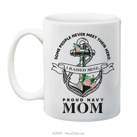 """Navy Mom"" - 15 oz Coffee Mug - NavyChief.com - Navy Pride, Chief Pride."
