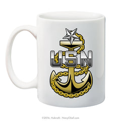 """Navy Senior Chief Fouled Anchor"" 15 oz Coffee Mug"