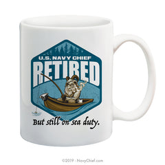 """Sea Duty"" 15 oz Coffee Mug - NavyChief.com - Navy Pride, Chief Pride."
