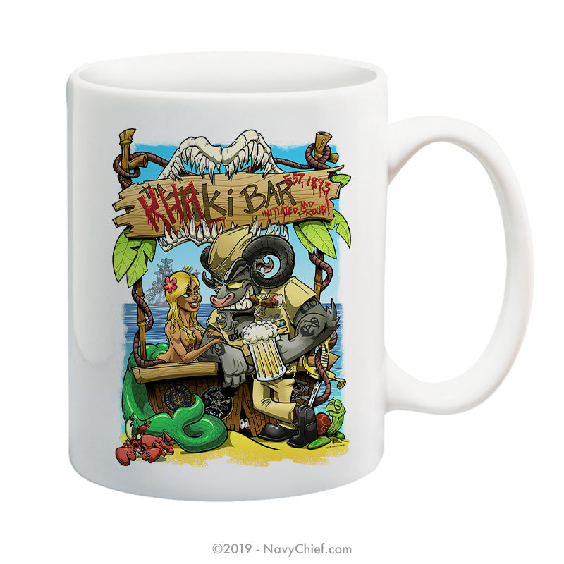 """The Khaki Bar"" - 15 oz Coffee Mug - NavyChief.com - Navy Pride, Chief Pride."