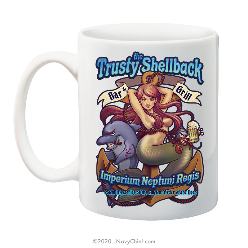 """The Trusty Shellback Bar & Grill"" - 15 oz Coffee Mug"