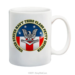 """USN Third Class Petty Officer"" - 15 oz Coffee Mug - NavyChief.com - Navy Pride, Chief Pride."