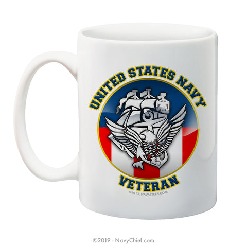 """USN Veteran"" - 15 oz Coffee Mug"
