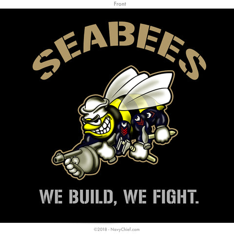 "Seabees ""Rating"" T-shirt, BLACK - NavyChief.com - Navy Pride, Chief Pride."
