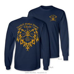 """The Chosen Few"" Tribal Long Sleeve Tee, Navy"