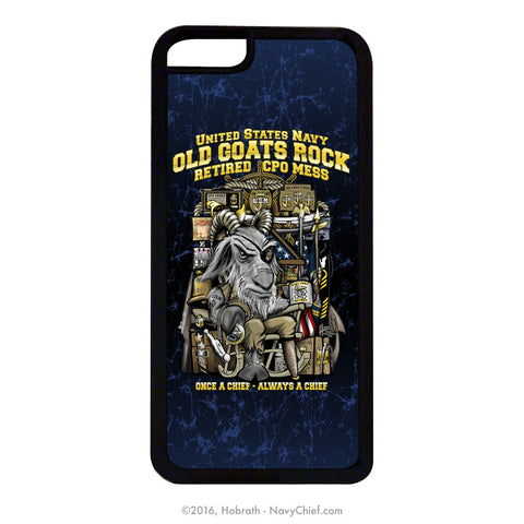 """Old Goats Rock"" Retired Navy Chief Mobile Phone Cover (iPhone & Samsung) - NavyChief.com - Navy Pride, Chief Pride."