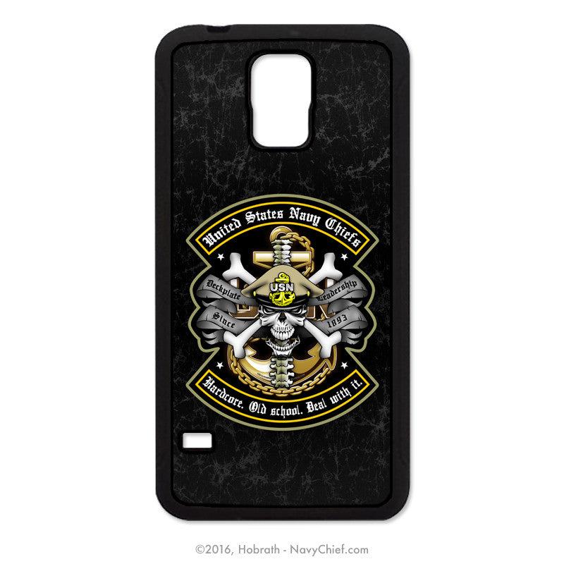 "United States Navy Chiefs ""Hardcore. Old school. Deal with it."" Mobile Phone Cover (iPhone & Samsung) - NavyChief.com - Navy Pride, Chief Pride."