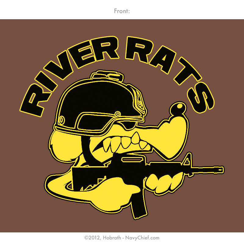 """River Rats"" T-shirt, Brown - NavyChief.com - Navy Pride, Chief Pride."