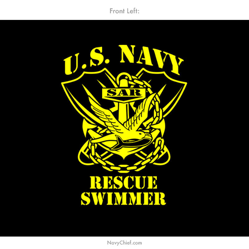 U.S. Navy Search and Rescue (SAR) Aircrew Swimmer T-shirt, Black