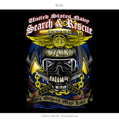 U.S. Navy Search and Rescue (SAR) Aircrew Swimmer T-shirt, Black - NavyChief.com - Navy Pride, Chief Pride.