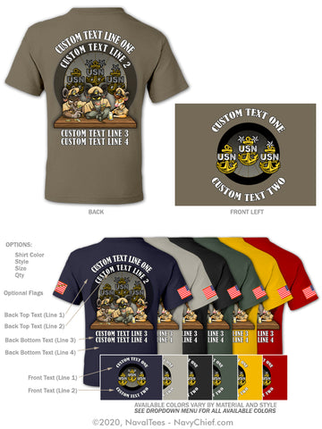 "Semi Custom Bulk Order - ""Goat Gang"" - NavyChief.com - Navy Pride, Chief Pride."