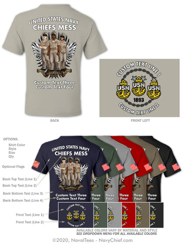 "Semi Custom Bulk Order - ""The Chosen Few"" - NavyChief.com - Navy Pride, Chief Pride."