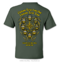 "Semi Custom Bulk Order - ""Compass Tribal"" - NavyChief.com - Navy Pride, Chief Pride."