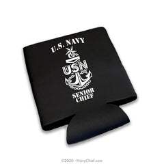 """SCPO Anchor"" 12 oz Can Koozie, Black"