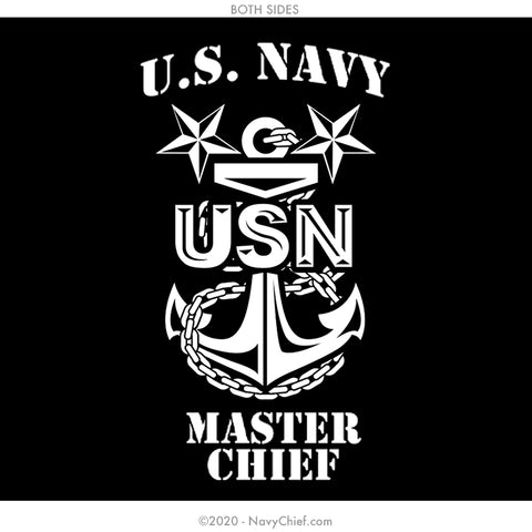 """MCPO Anchor"" 12 oz Can Koozie, Black - NavyChief.com - Navy Pride, Chief Pride."