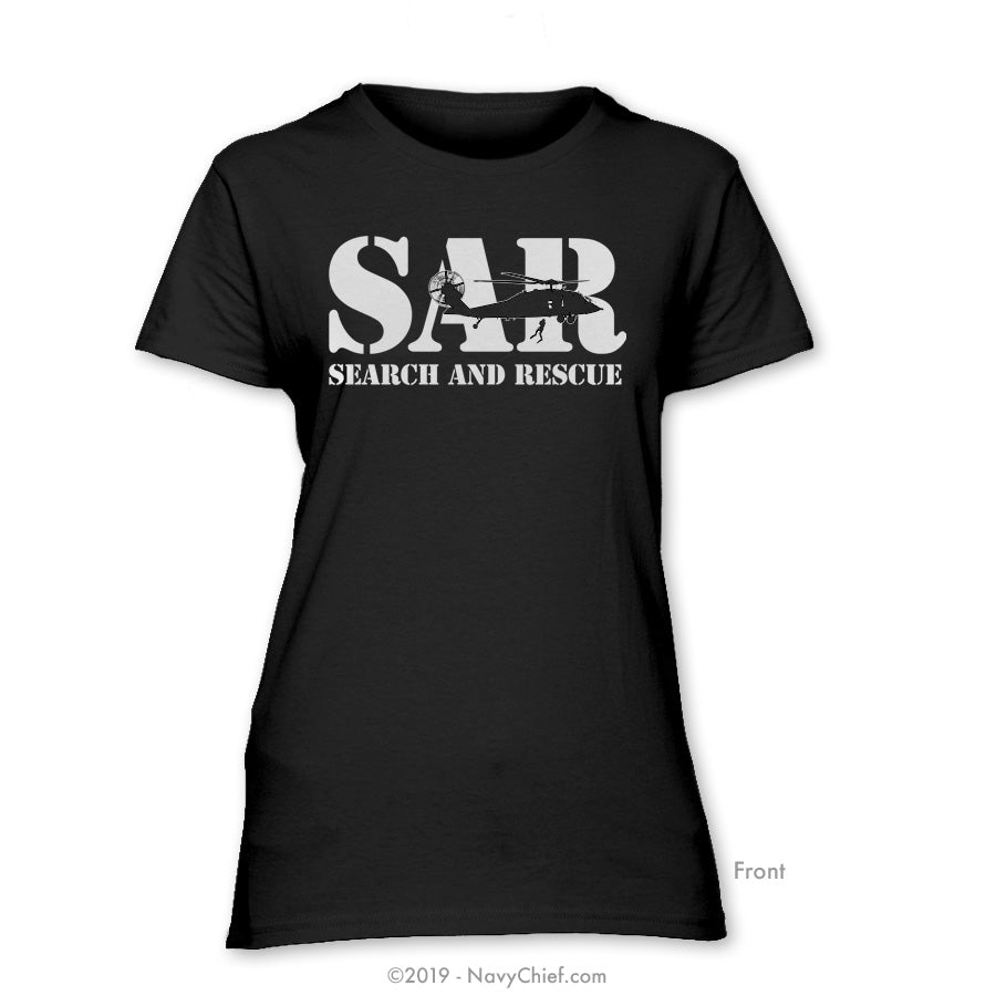 """SAR"" Ladies Tee, Black - NavyChief.com - Navy Pride, Chief Pride."