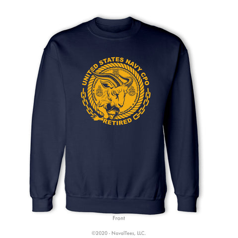 """CPO Retired"" Crewneck Sweatshirt - Navy"