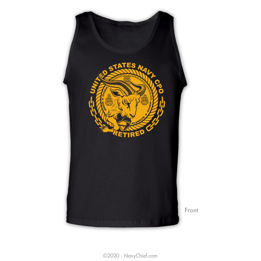"""CPO Retired"" Goat Tank, Black"