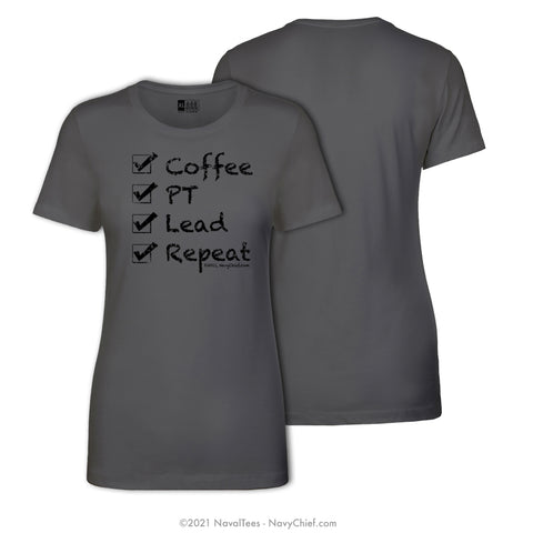 """Checklist"" Ladies Tee, Gray"