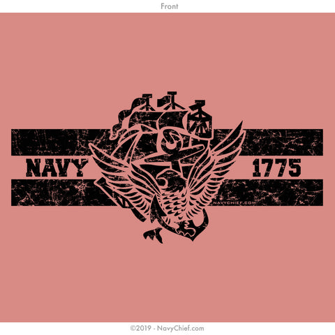 """ACE 1775"" Ladies Tee, Canyon Red - NavyChief.com - Navy Pride, Chief Pride."