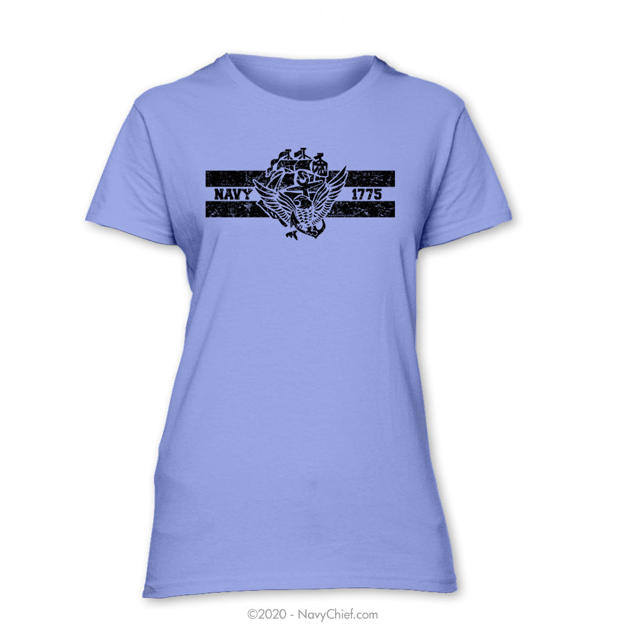 """ACE 1775"" Ladies Tee, Violet - NavyChief.com - Navy Pride, Chief Pride."