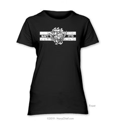 """ACE 1775"" Ladies Tee, Black - NavyChief.com - Navy Pride, Chief Pride."