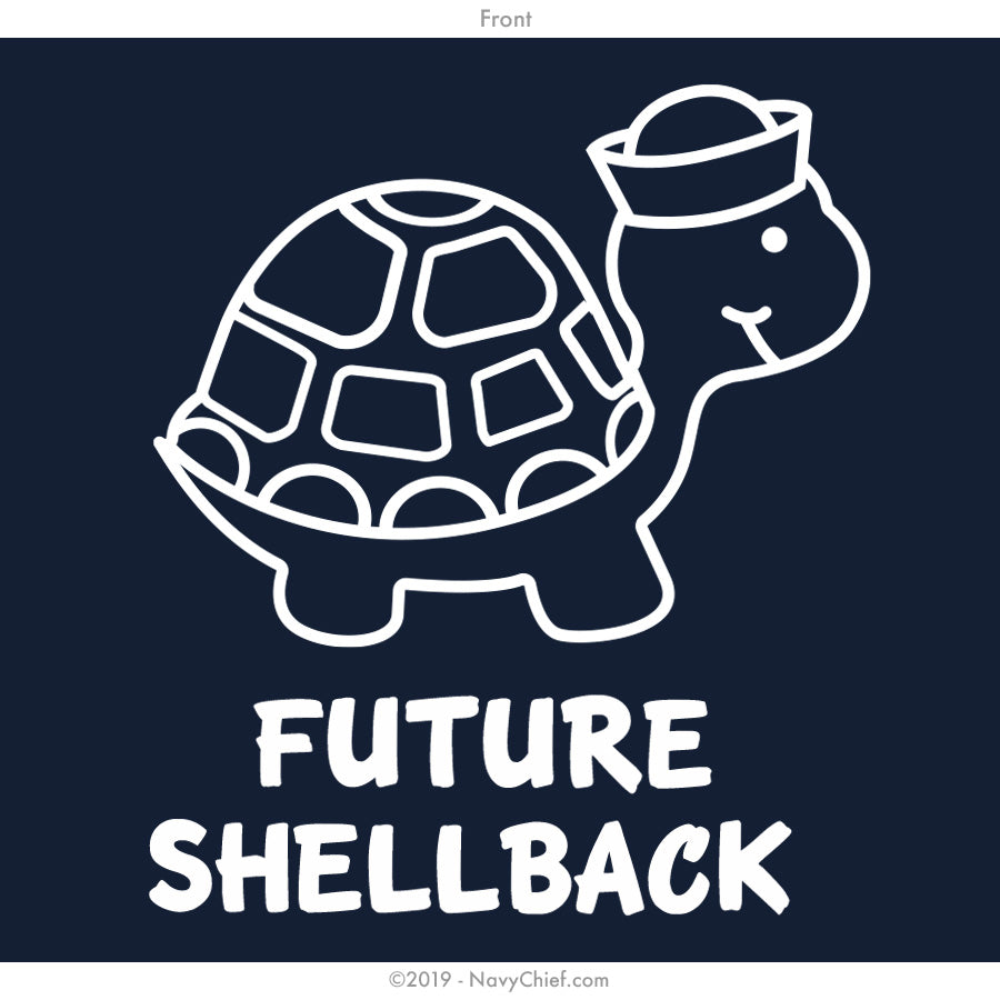 """Future Shellback"" Onesie, Navy - NavyChief.com - Navy Pride, Chief Pride."
