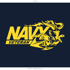"""Navy Veteran"" Ram T-shirt, Navy - NavyChief.com - Navy Pride, Chief Pride."