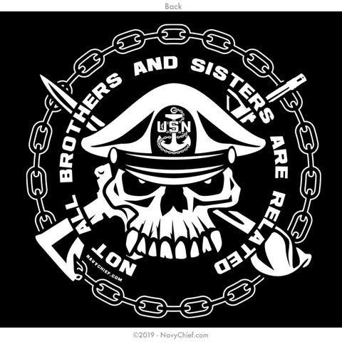"""Brothers & Sisters"" Long Sleeve Tee, Black - NavyChief.com - Navy Pride, Chief Pride."