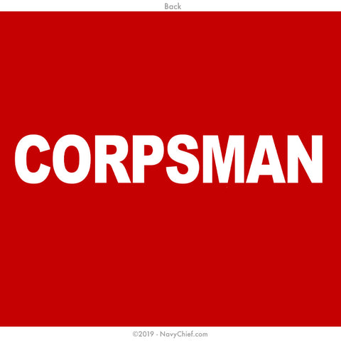 CPO Corpsman T-shirt, Red - NavyChief.com - Navy Pride, Chief Pride.