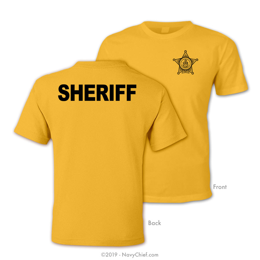 CPO Sheriff T-shirt, Gold - NavyChief.com - Navy Pride, Chief Pride.
