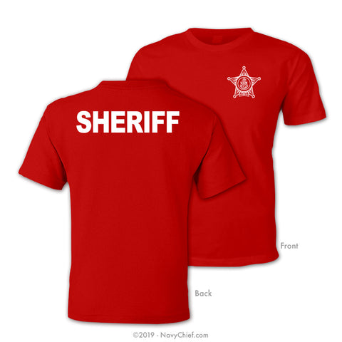CPO Sheriff T-shirt, Red - NavyChief.com - Navy Pride, Chief Pride.