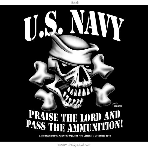 """Pass The Ammo"" T-shirt, Black - NavyChief.com - Navy Pride, Chief Pride."